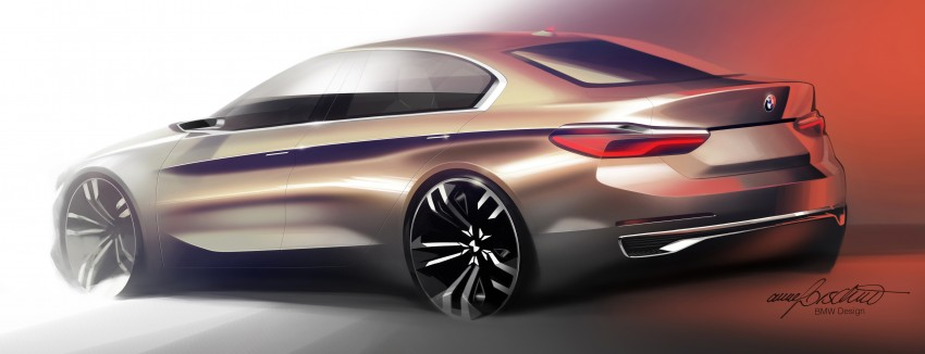BMW Concept Compact Sedan previews FWD sedan Image #410540