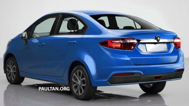 RENDERED: Proton Persona sedan, based on Iriz