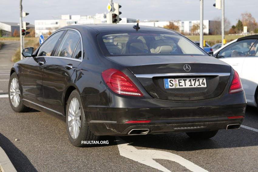 SPIED: W222 Mercedes-Benz S-Class facelift testing Image #407377