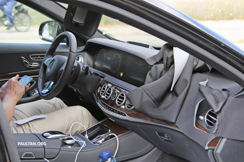 SPIED: W222 Mercedes-Benz S-Class facelift testing Image #407380