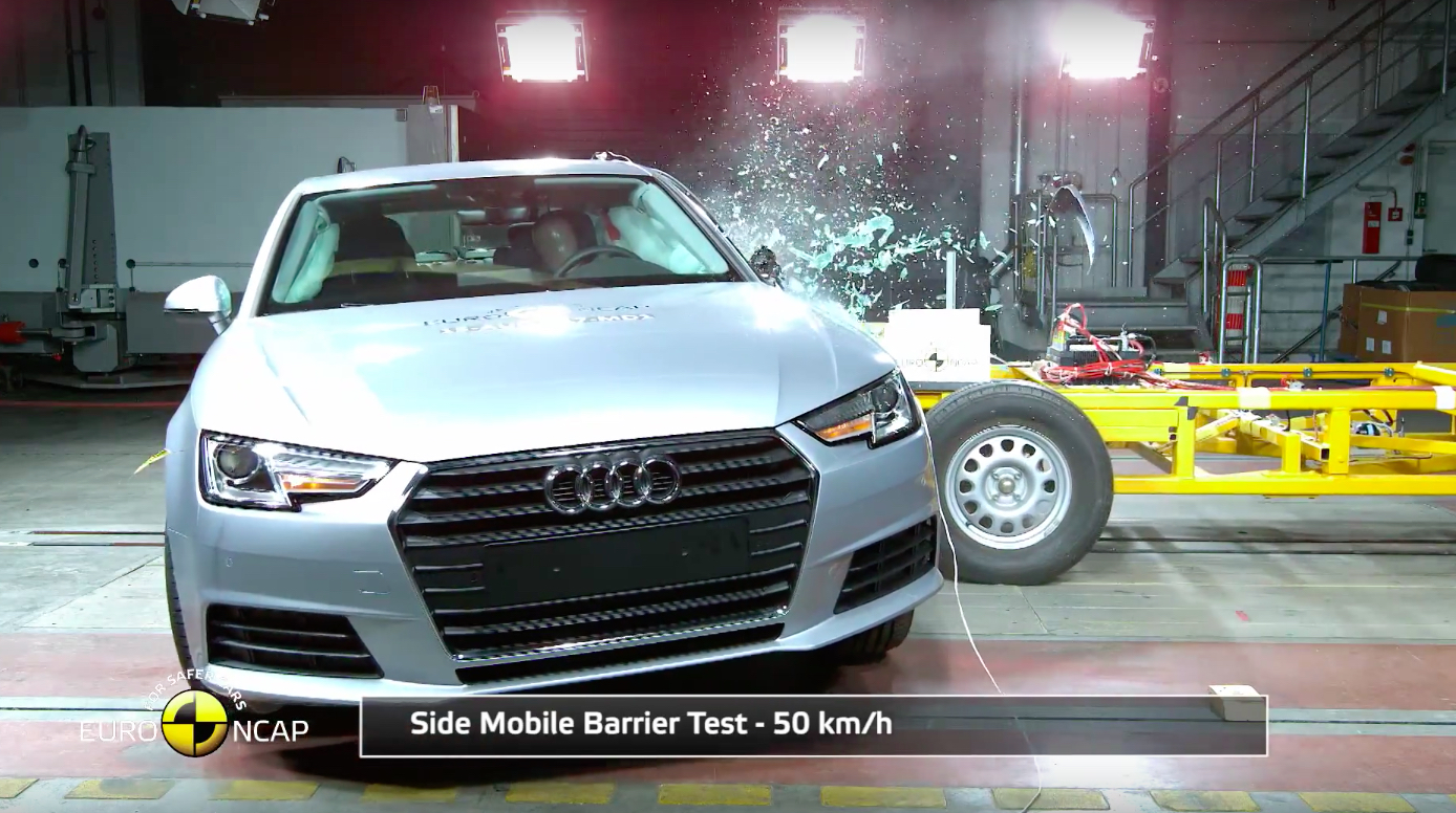 VIDEO: B9 Audi A4 scores Euro NCAP five-star rating b9 ...