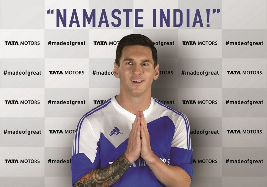 Lionel Messi, global brand ambassador of India's Tata Image #402155