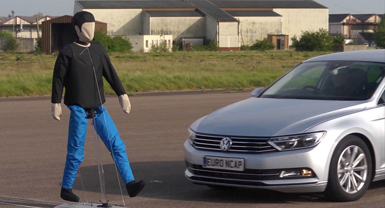 Euro NCAP to test Autonomous Emergency Braking (AEB) systems' ability to detect pedestrians Image #414410
