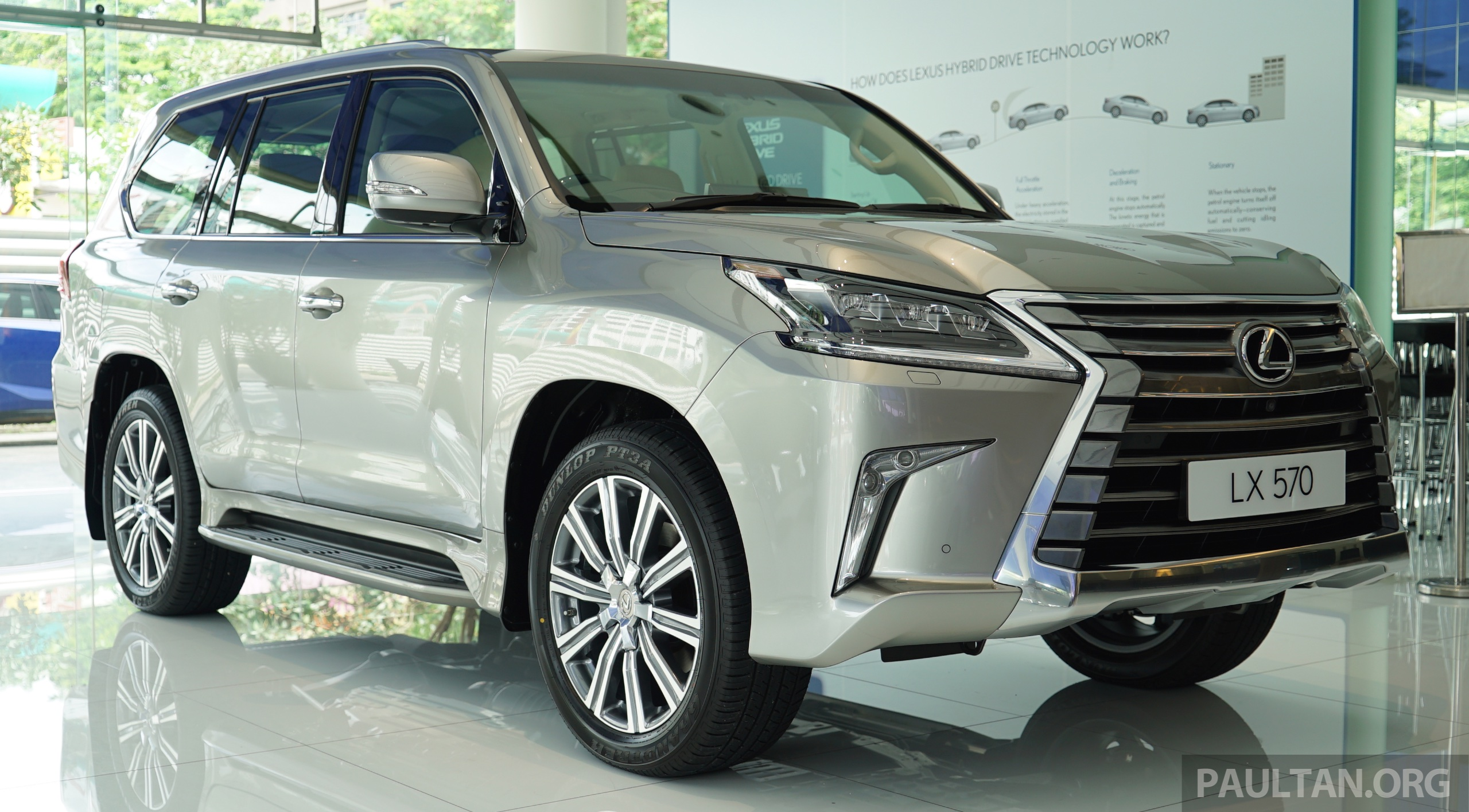 back to story gallery 2016 lexus lx 570 in malaysian showroom. Black Bedroom Furniture Sets. Home Design Ideas