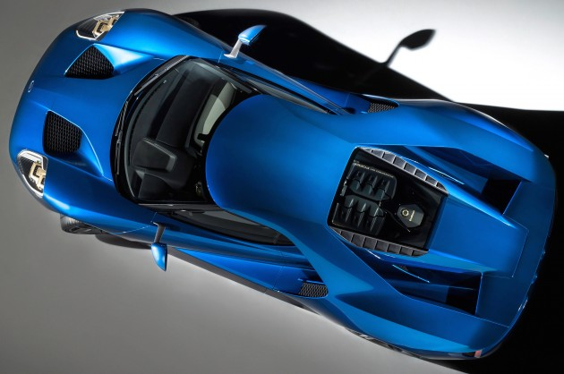 All-New Ford GT bird's eye view, January 2015