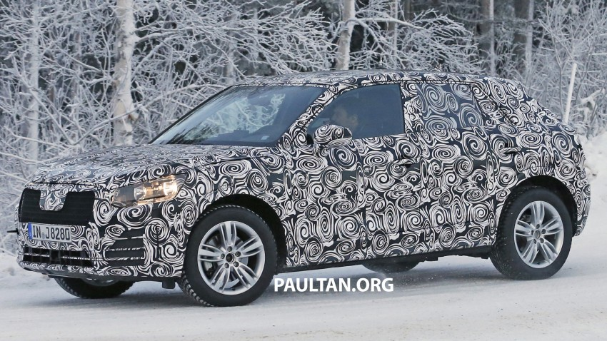 SPYSHOTS: Audi Q2 captured frolicking in the snow Image #420413