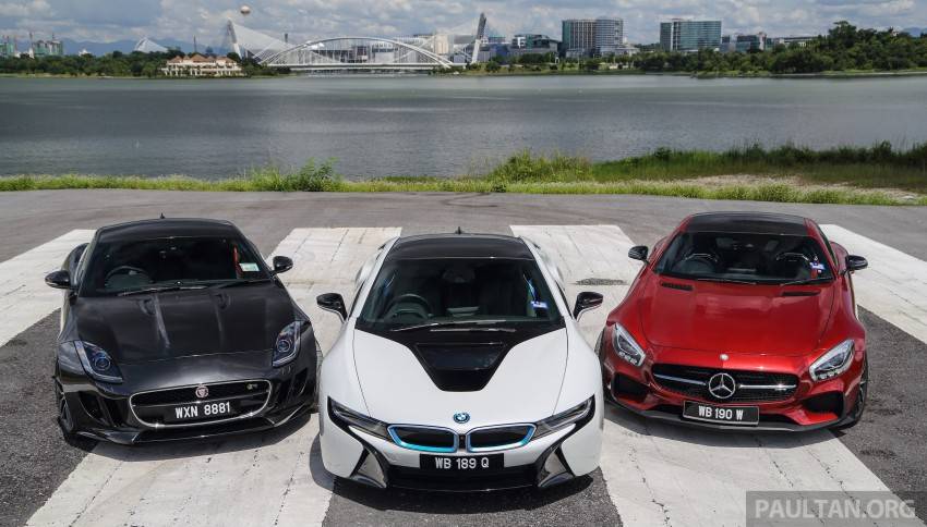 Driven Web Series 2015 #7: million ringgit sports cars – BMW i8 vs Mercedes-AMG GT S vs Jaguar F-Type R Image #417684