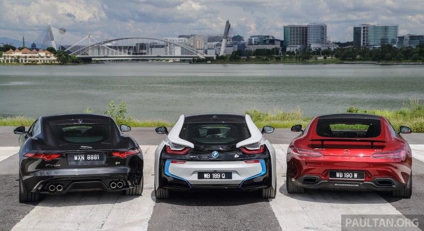 Driven Web Series 2015 #7: million ringgit sports cars – BMW i8 vs Mercedes-AMG GT S vs Jaguar F-Type R Image #417685