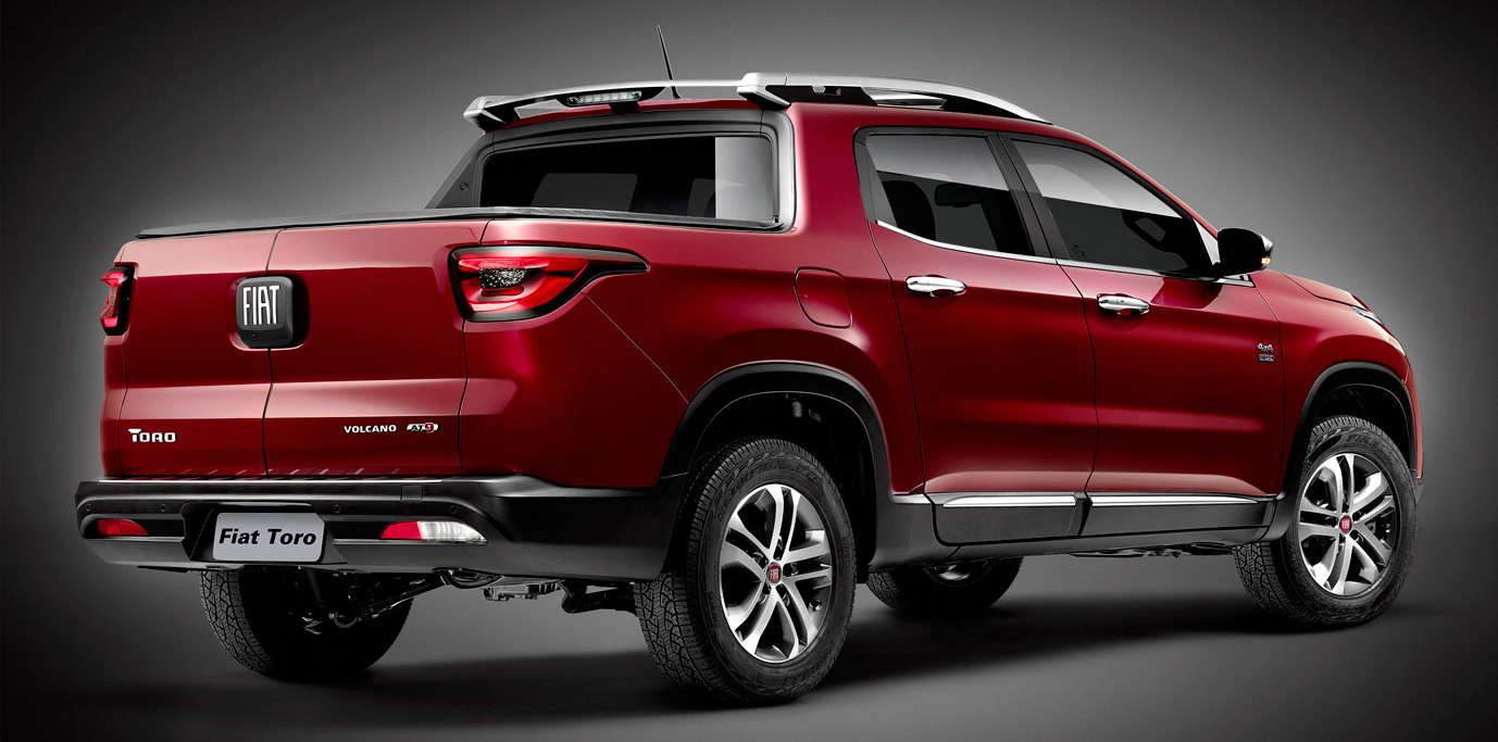 fiat toro pick up truck official image of rear released. Black Bedroom Furniture Sets. Home Design Ideas