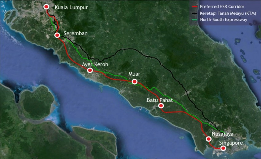 KL-Singapore HSR will not stop in Putrajaya – new train to get dedicated track, not shared with ERL Image #422667