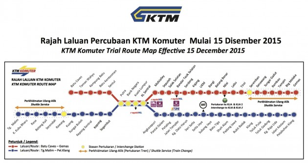 KTM Komuter six-month reroute
