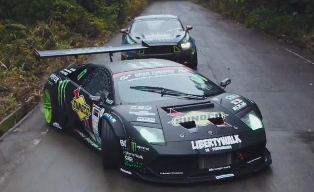 Lamborghini Murcielago vs Ford Mustang drift