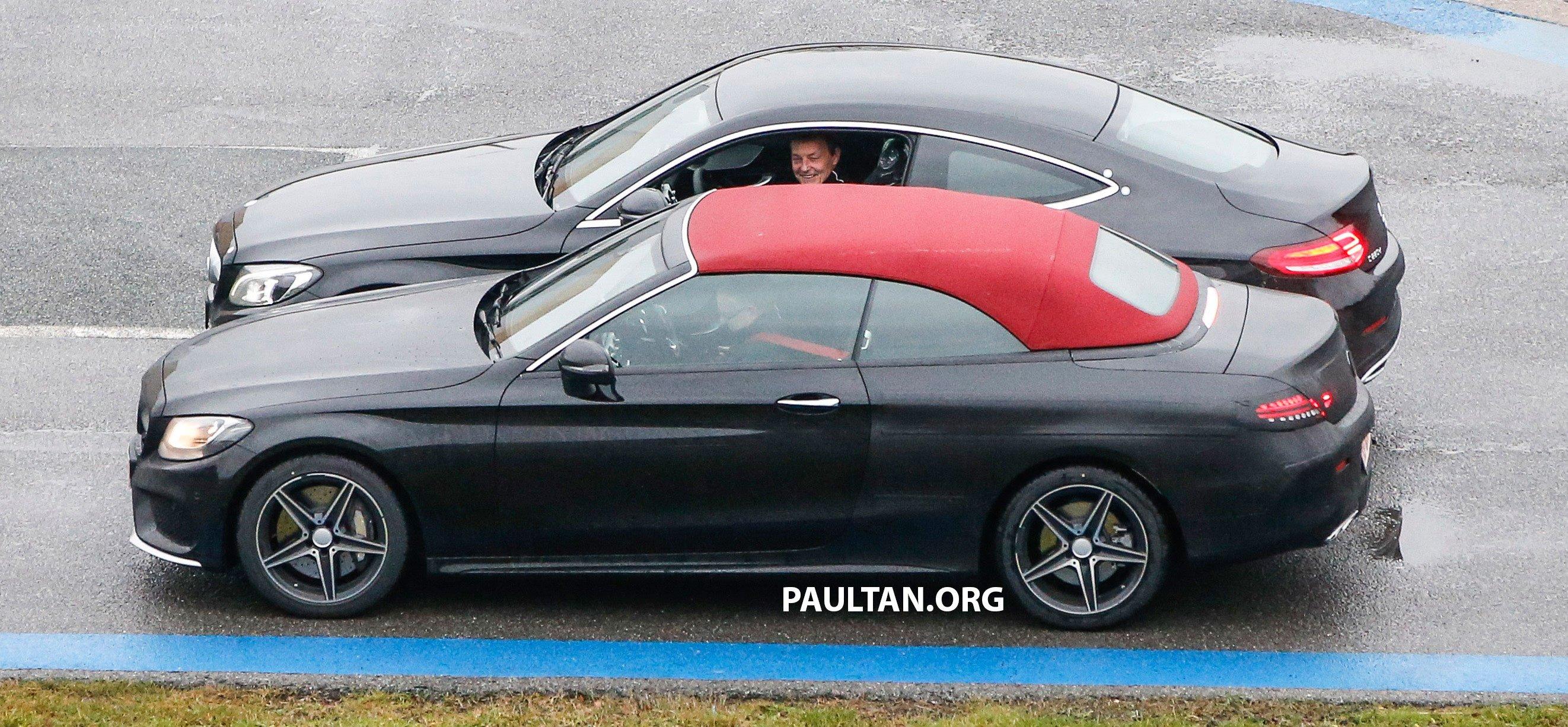 Spied Mercedes Benz C Class Cabriolet Undisguised Paul