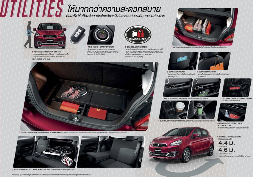 Mitsubishi Mirage facelift goes high tech in Thailand Image #415716