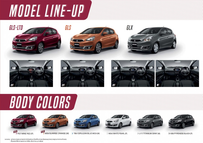 Mitsubishi Mirage facelift goes high tech in Thailand Image #415714