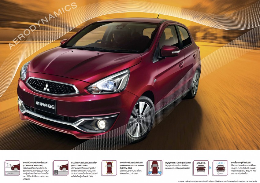 Mitsubishi Mirage facelift goes high tech in Thailand Image #415721