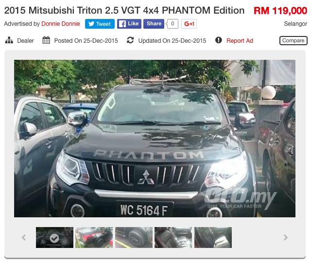 Mitsubishi Triton Phantom Edition on oto.my , RM119k Image 422811
