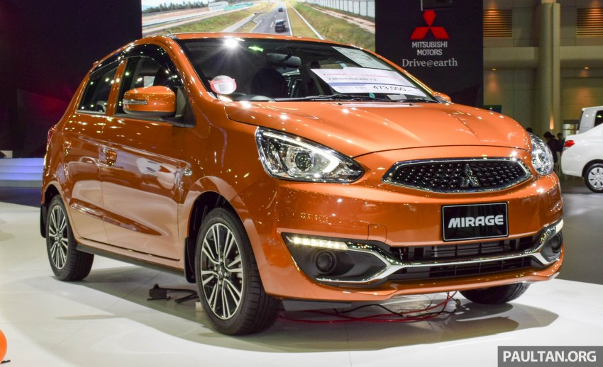 Mitsubishi Mirage facelift goes high tech in Thailand Image #415559