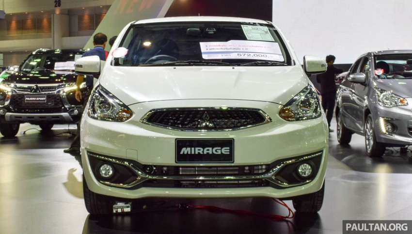 Mitsubishi Mirage facelift goes high tech in Thailand Image #415582