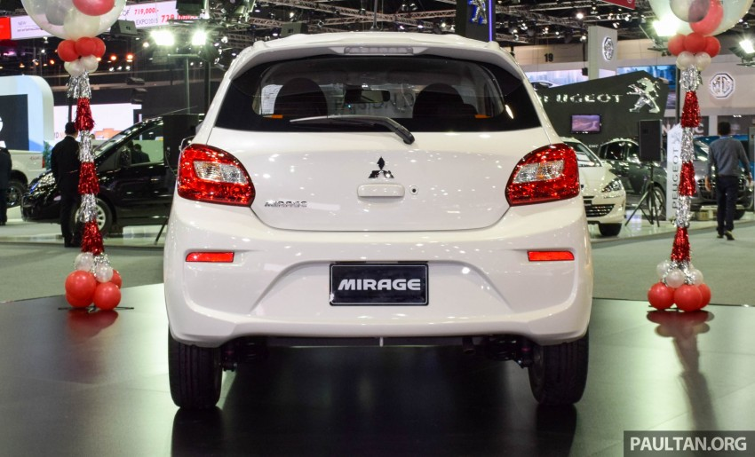 Mitsubishi Mirage facelift goes high tech in Thailand Image #415583