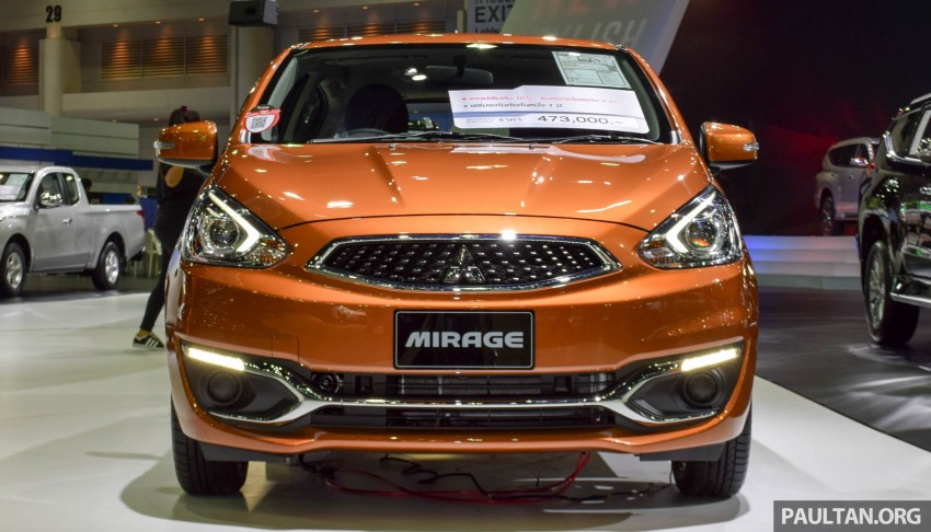 Mitsubishi Mirage facelift goes high tech in Thailand Image #415562