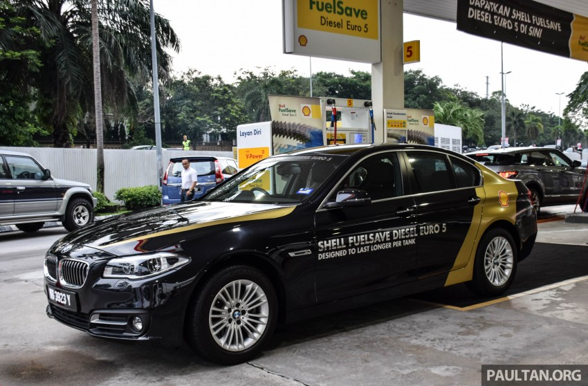 Shell FuelSave Euro 5 diesel now available outside Johor – five stations first, 10 sen more than Euro2M Image #420239