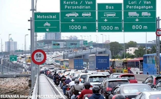 johor causeway jam bernama pix