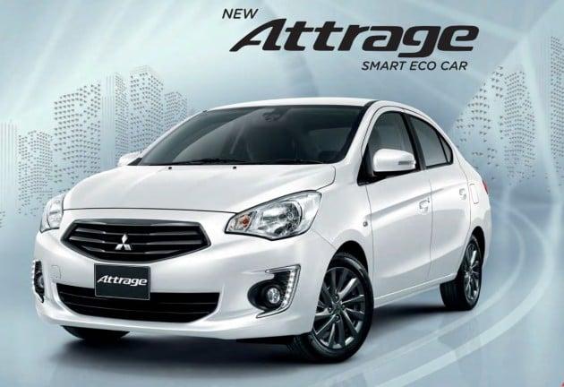 2016 Mitsubishi Attrage now in Thailand - better FC, safety tech