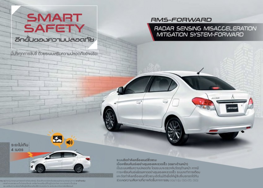 2016 Mitsubishi Attrage on sale in Thailand – new safety systems, improved 23.3 km/l fuel economy Image #431659
