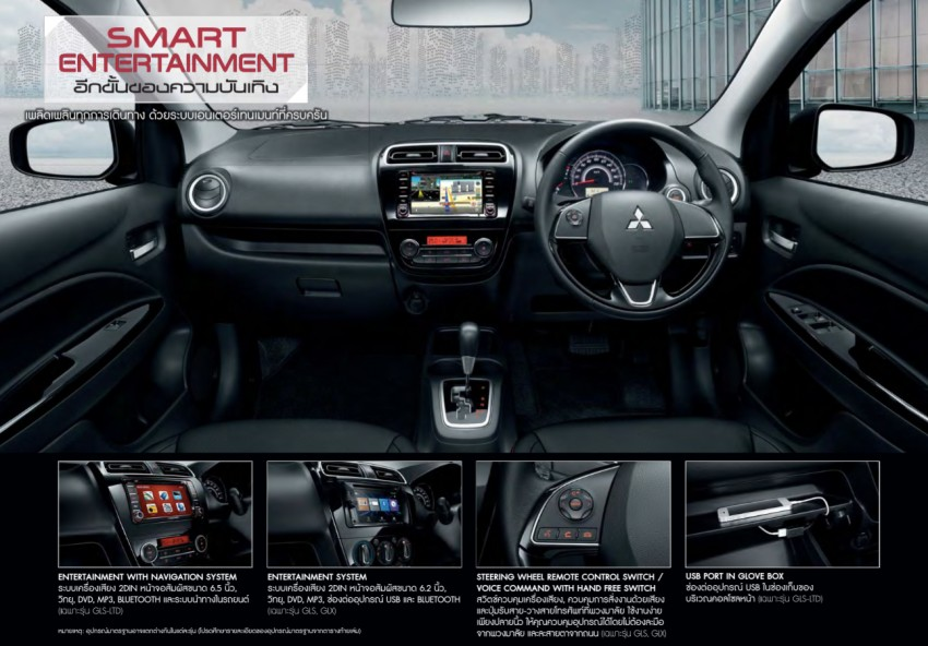 2016 Mitsubishi Attrage on sale in Thailand – new safety systems, improved 23.3 km/l fuel economy Image #431660