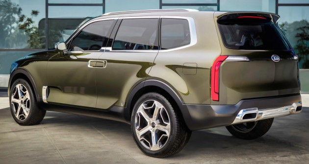 Suv With Third Row >> Kia Telluride concept previews premium 7-seat SUV