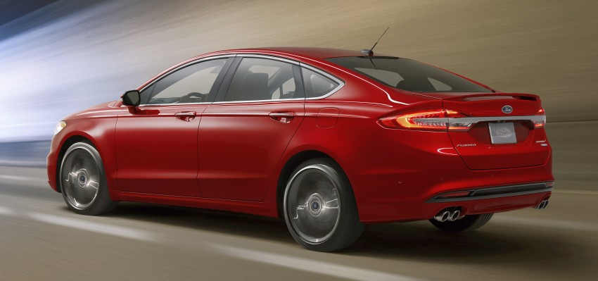 2017 Ford Fusion facelift debuts – 2.7L twin-turbo Fusion V6 Sport and two hybrids lead the new line-up Image #426856