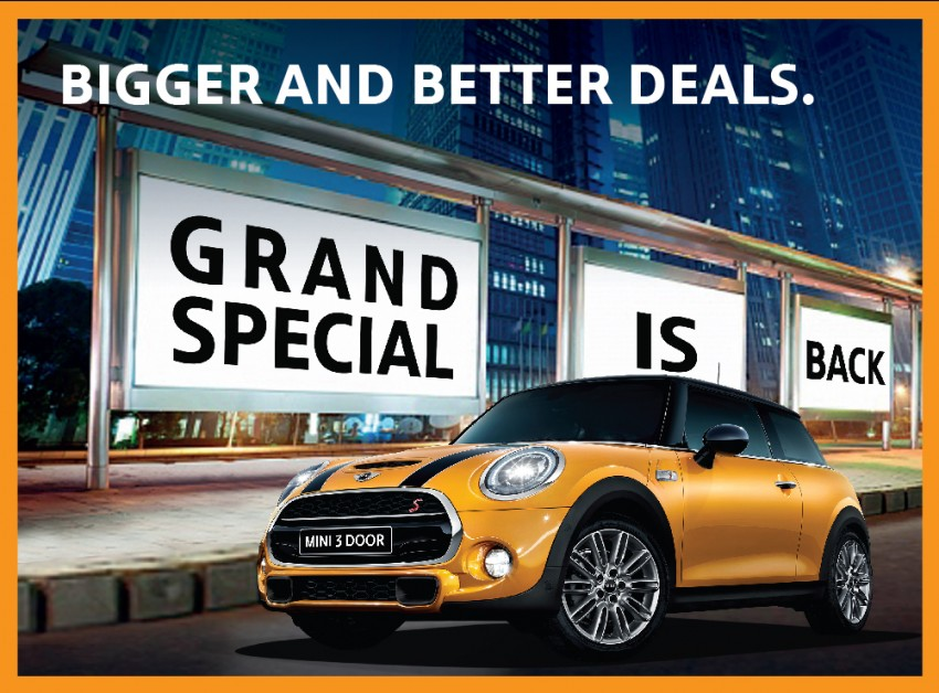 AD: Auto Bavaria Grand Special – exclusive rebates, 4-year warranty with free service for every new MINI! Image #427171