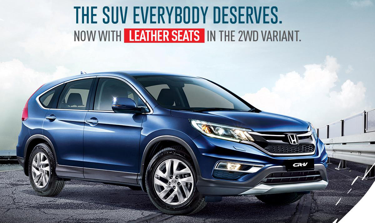 honda crv 2wd now with leather seats rm1k more image 432931