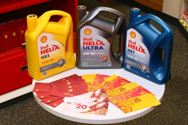 Every pack of Shell Helix motor oil now comes with Lucky Ang Pows containing cash or fuel vouchers