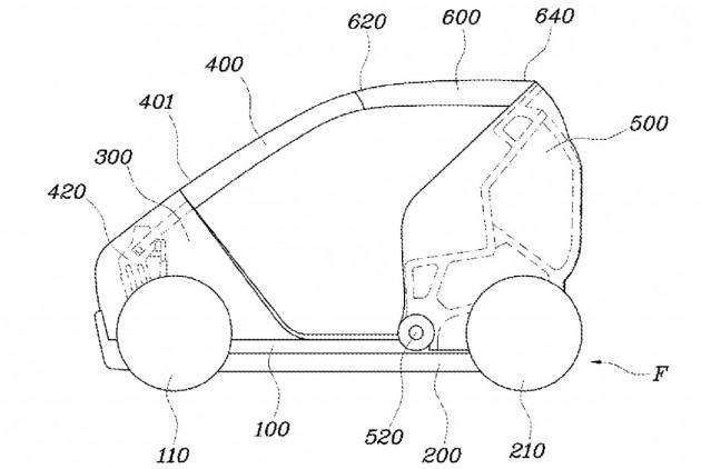 Hyundai foldable car patent-2