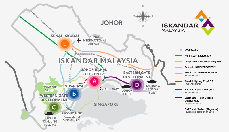 malaysia road map and highway guide