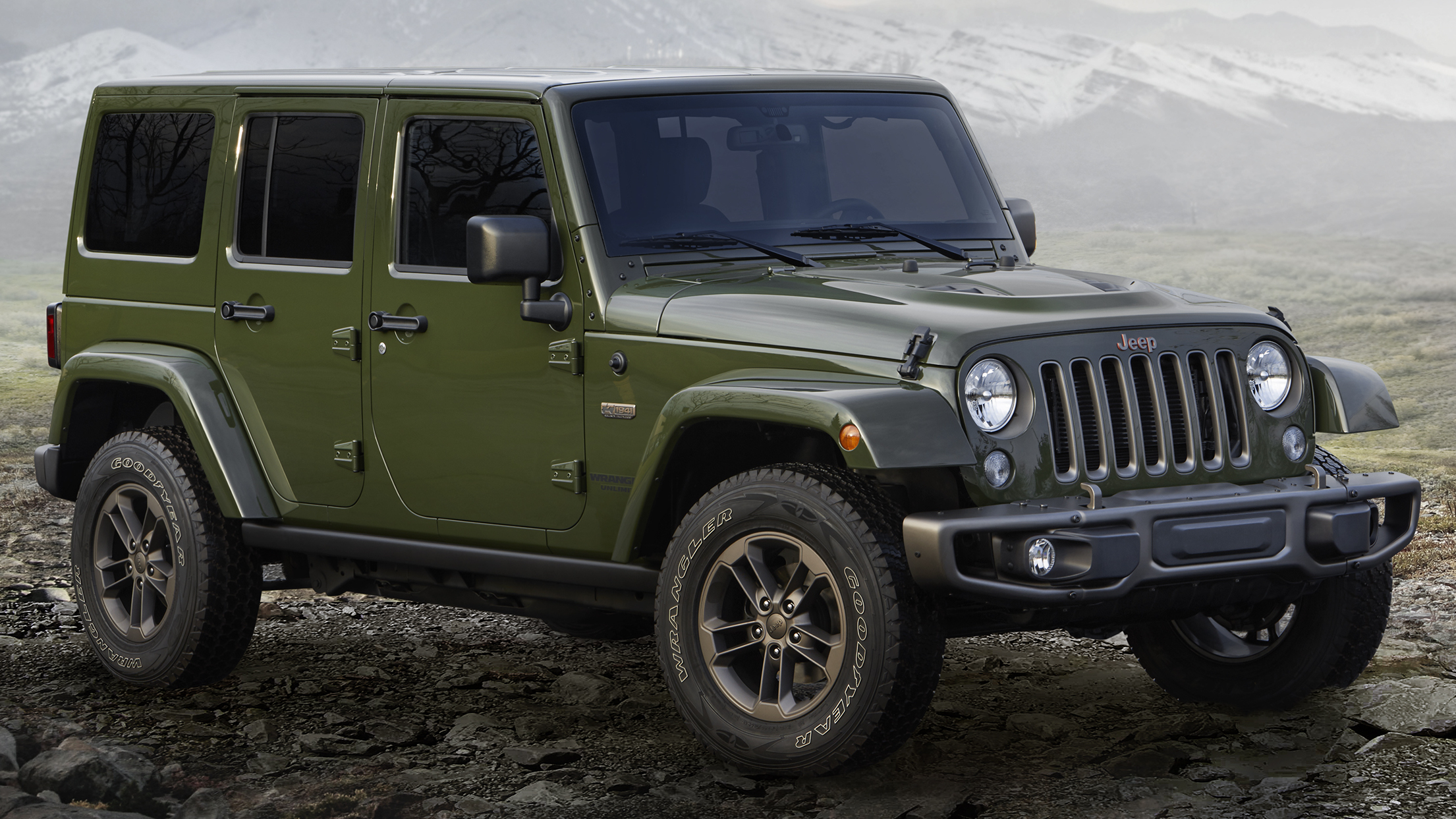 jeep 75th anniversary special edition models unveiled. Black Bedroom Furniture Sets. Home Design Ideas