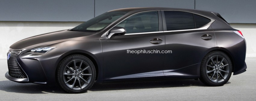 Next-gen Lexus CT 200h rendered with LF-FC cues Image #426477