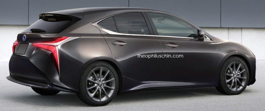 Next-gen Lexus CT 200h rendered with LF-FC cues Image #426478