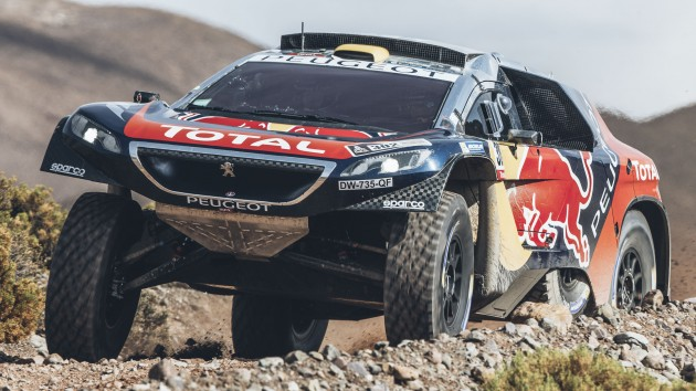 Stephane Peterhansel (FRA) from Team Peugeot Total  performs during stage 4 of Rally Dakar 2016 from Jujuy to Jujuy, Argentina on January 6, 2016.