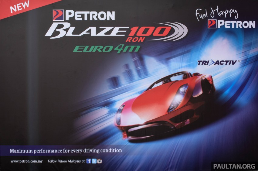 Petron Blaze 100 Euro 4M fuel launched in Malaysia – RON 100 at RM2.80 per litre; available at eight stations Image #429364
