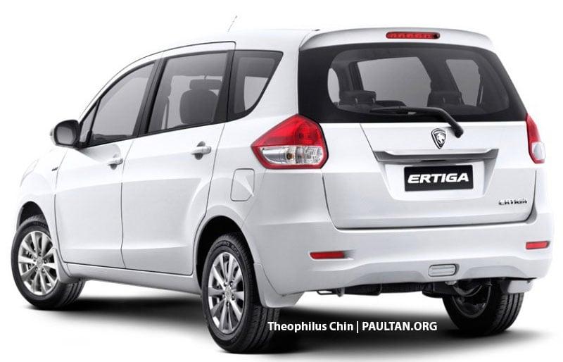 Proton-badged Suzuki Ertiga MPV rendered, 3 versions Image ...
