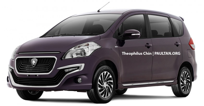 Proton-badged Suzuki Ertiga MPV rendered, 3 versions Image #433357
