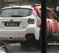 Subaru XV facelift spyshot