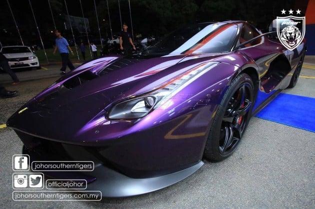 Purple ferrari car