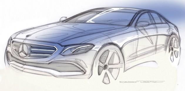W213 Mercedes-Benz E-Class teaser sketch