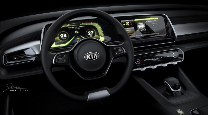 Kia Telluride – name of large SUV concept headed for Detroit 2016; interior teaser sketch revealed Image #426579