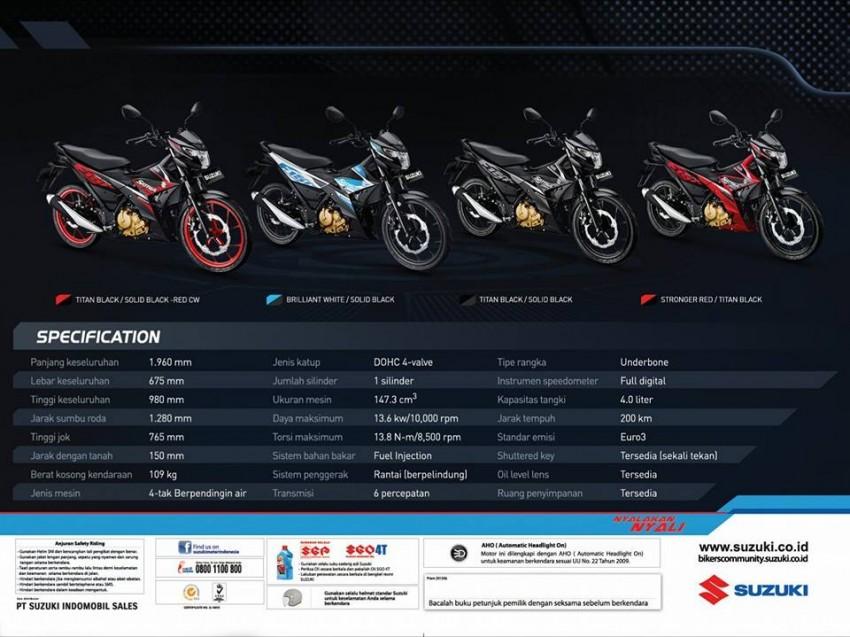 2016 Suzuki Satria F150 debuts in Indonesia – RM6,763 Image #443164