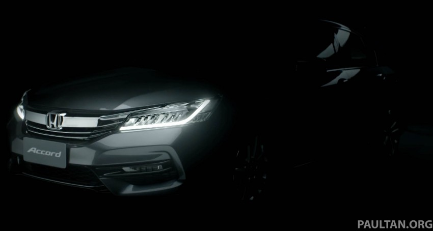 2016 Honda Accord facelift teased for Thailand debut Image #440661